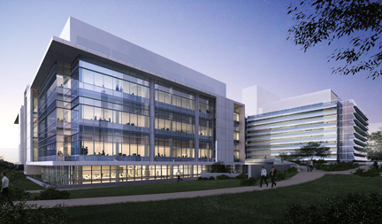 Rendering of the Porter Neuroscience Research Center Phase II, North view