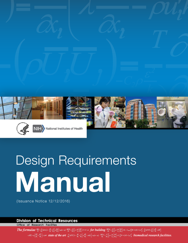 Cover of the 2016 Design Requirements Manual