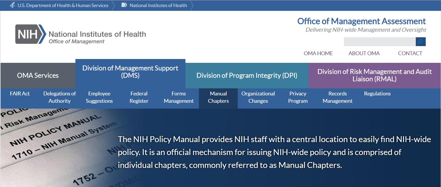 NIH Policy Manual