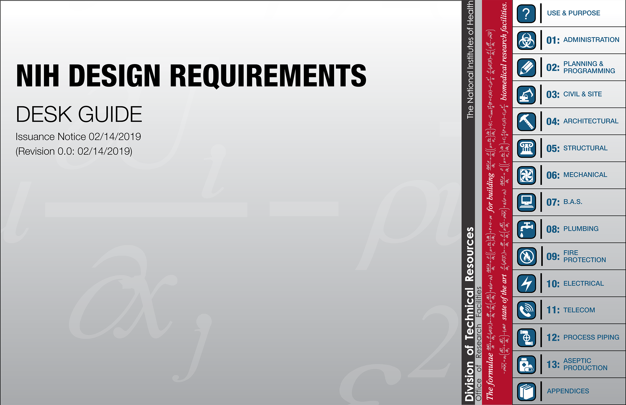 Front Cover of the NIH Design Requirements Desk Guide