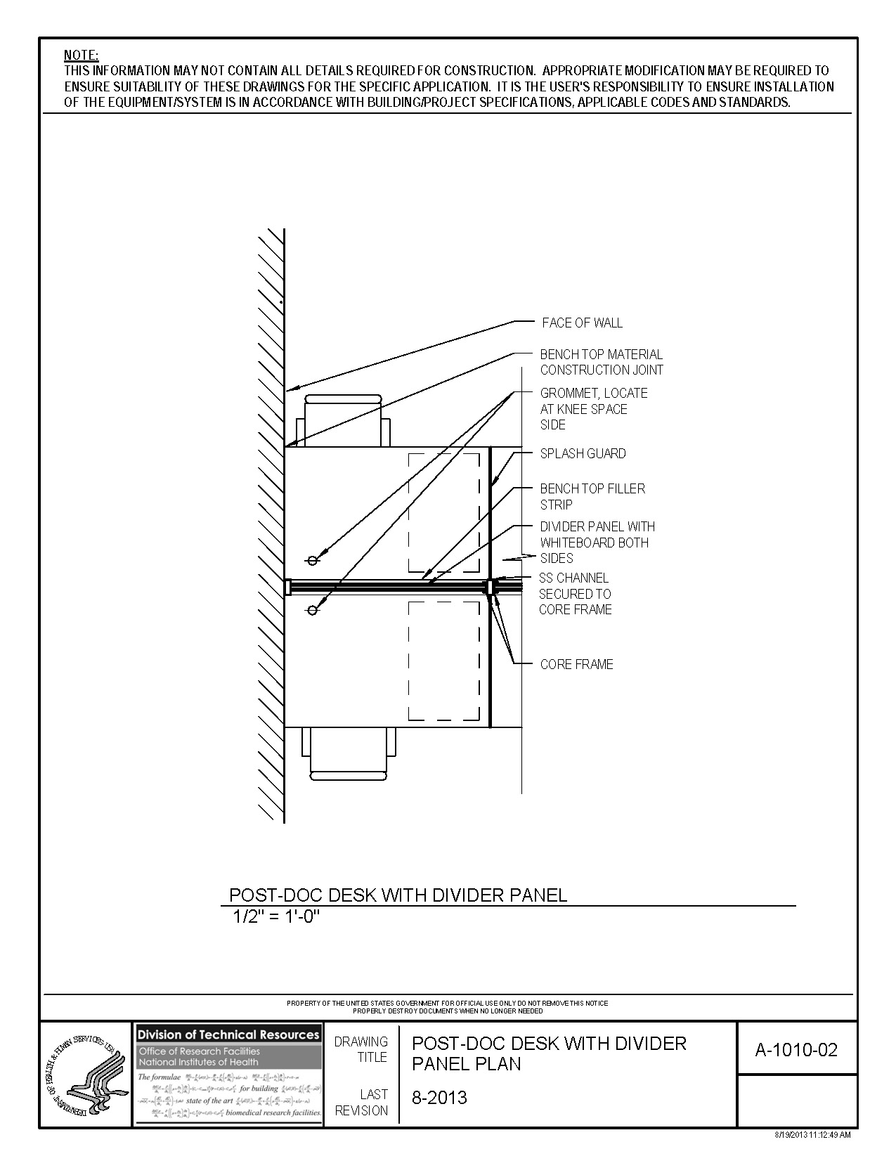 Under Kitchen Cabinet Lighting Led Nih Standard Cad Details