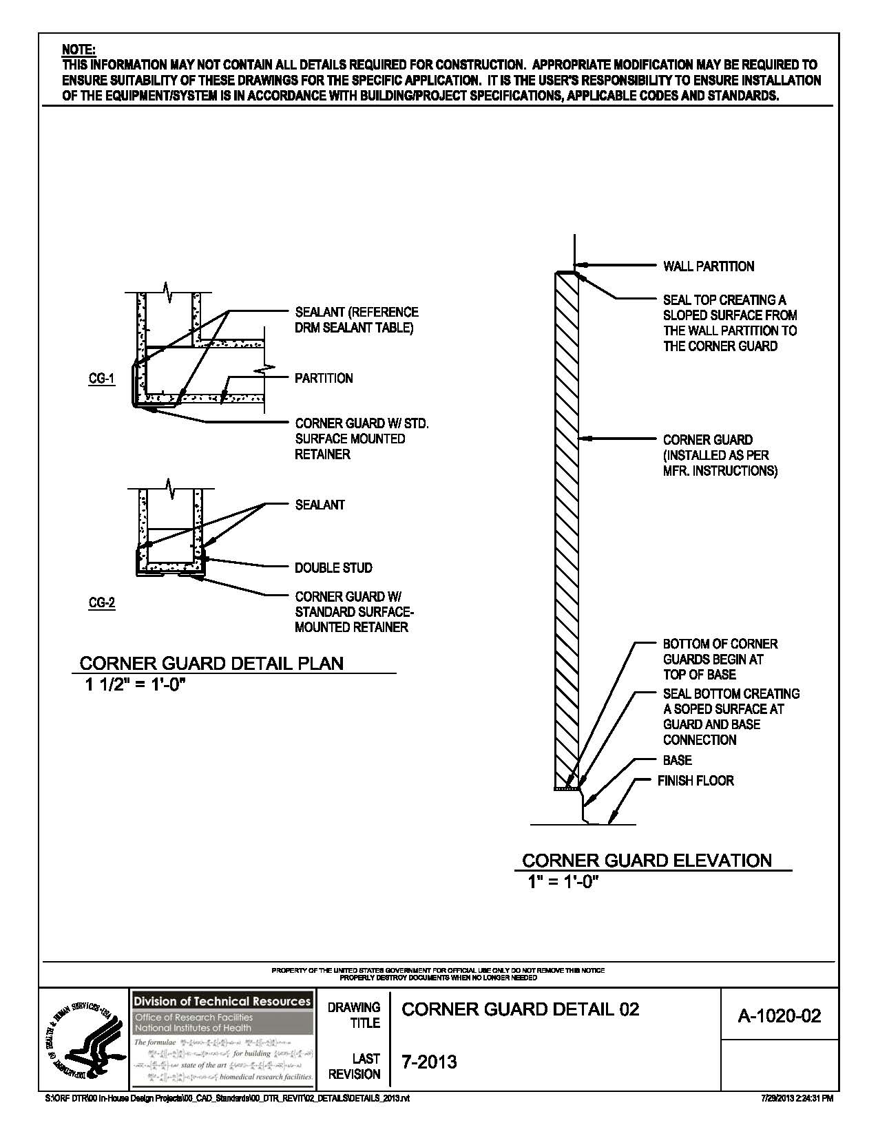Kitchen Light Fixtures Led Nih Standard Cad Details
