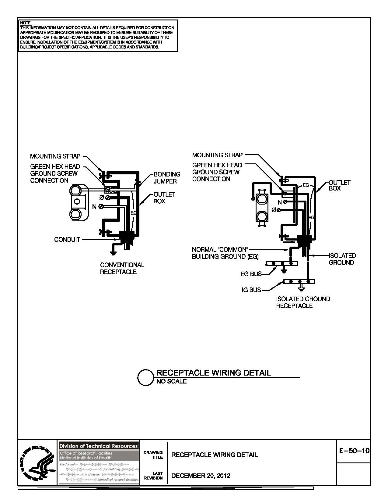 Nih Standard Cad Details Ac Receptacle Wiring Code Thumbnail Of E 50 10
