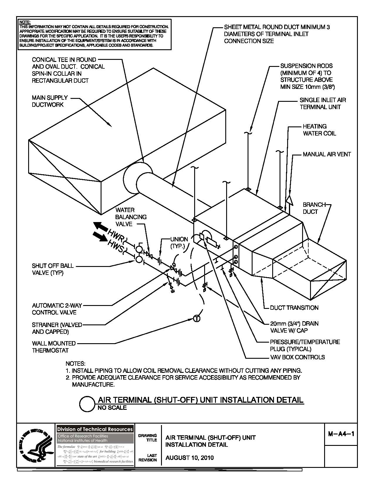 Nih Standard Cad Details Wiring Diagram Of O General Window Ac Thumbnail M A4 1 Air Terminal Unit