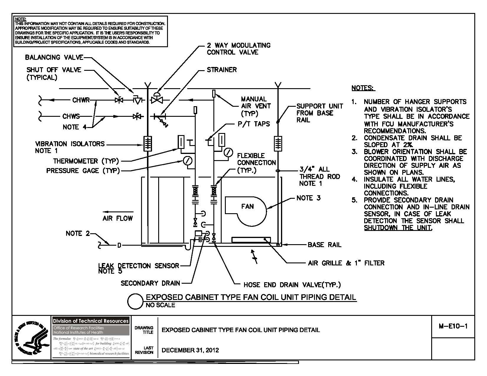 Fan Coil Unit Piping Diagram Hvac Wiring Electric
