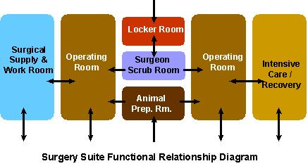 Surgery Suite Functional Relationship Diagram